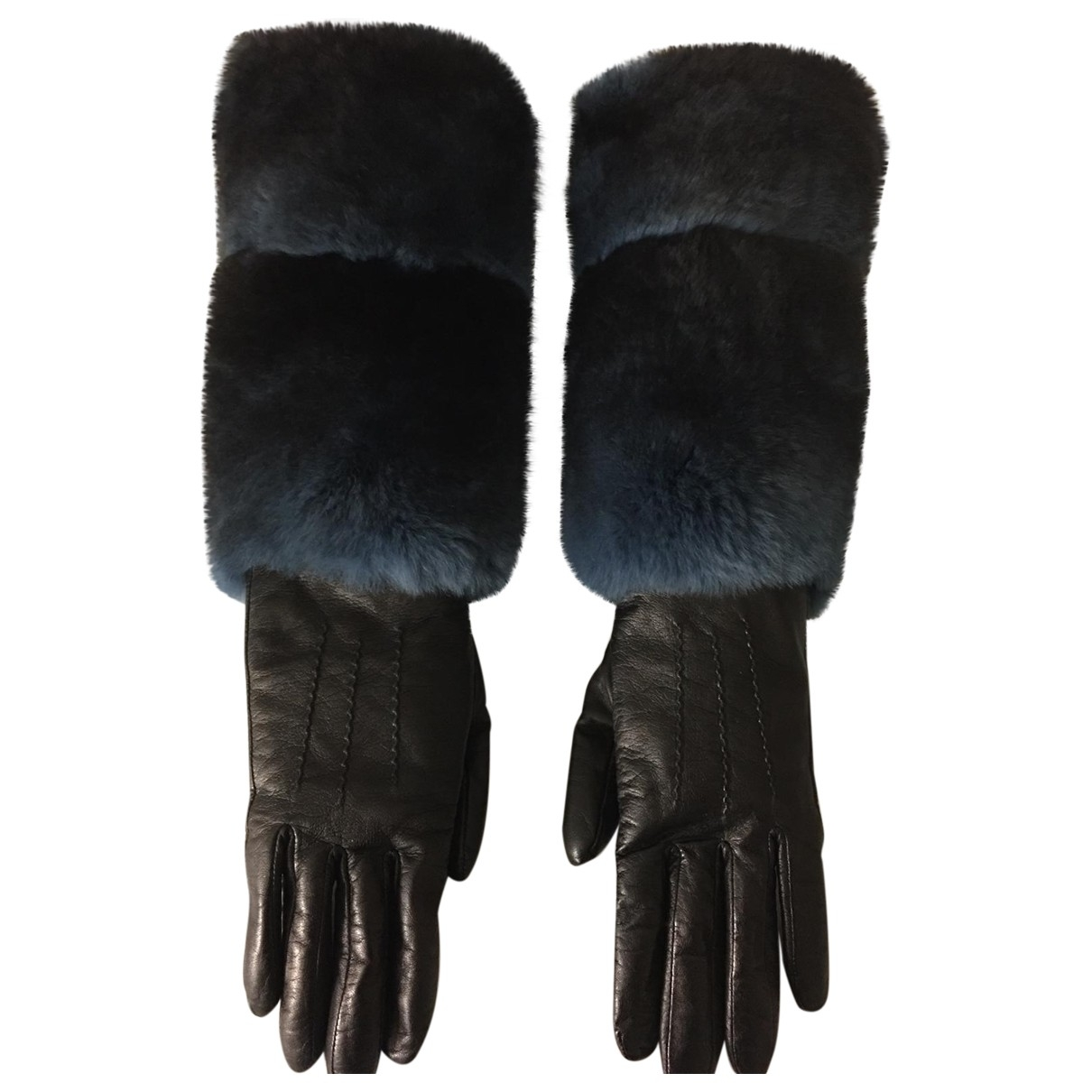 Fendi - Gants   pour femme en cuir - noir