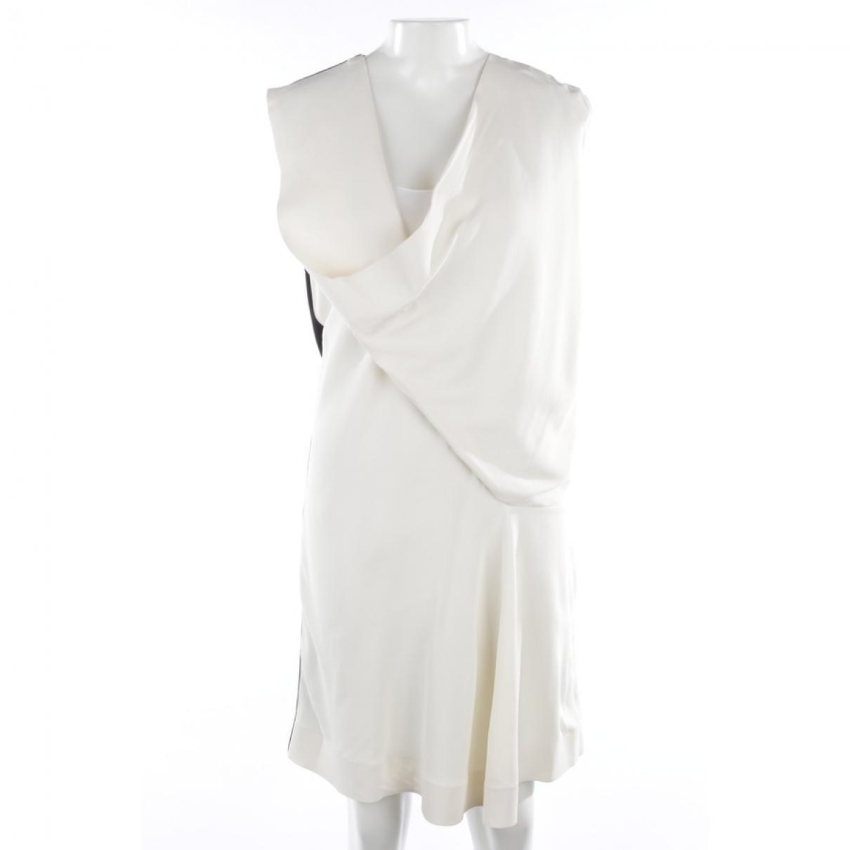 Balenciaga \N Kleid in  Weiss Polyester