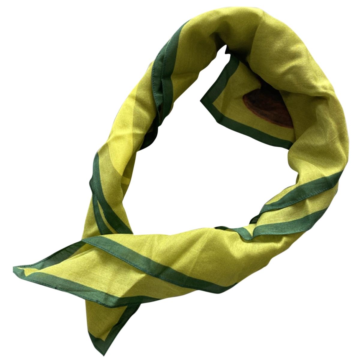 Mcq \N Green Silk scarf for Women \N