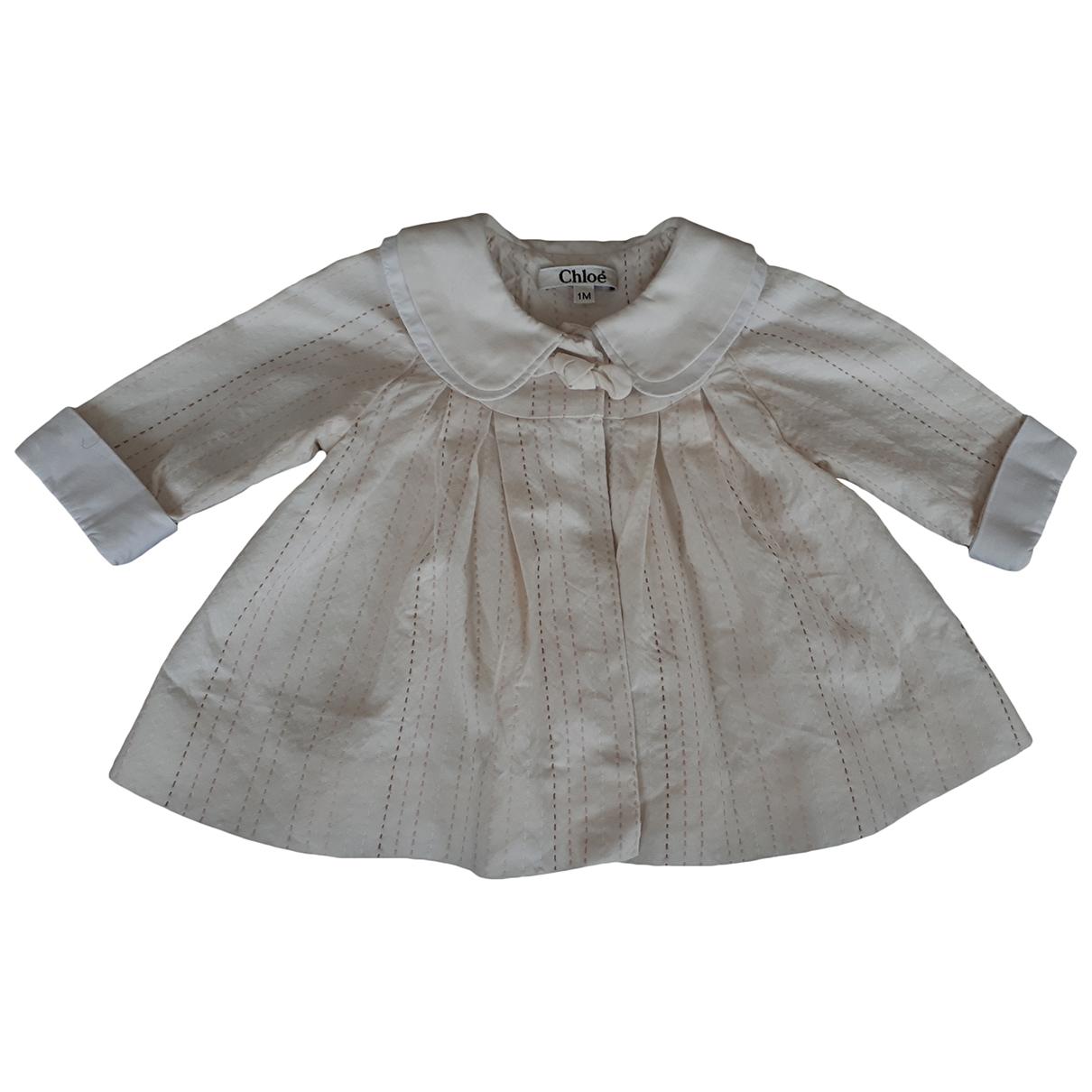 Chloé \N Ecru Cotton jacket & coat for Kids 1 months - up to 55cm FR