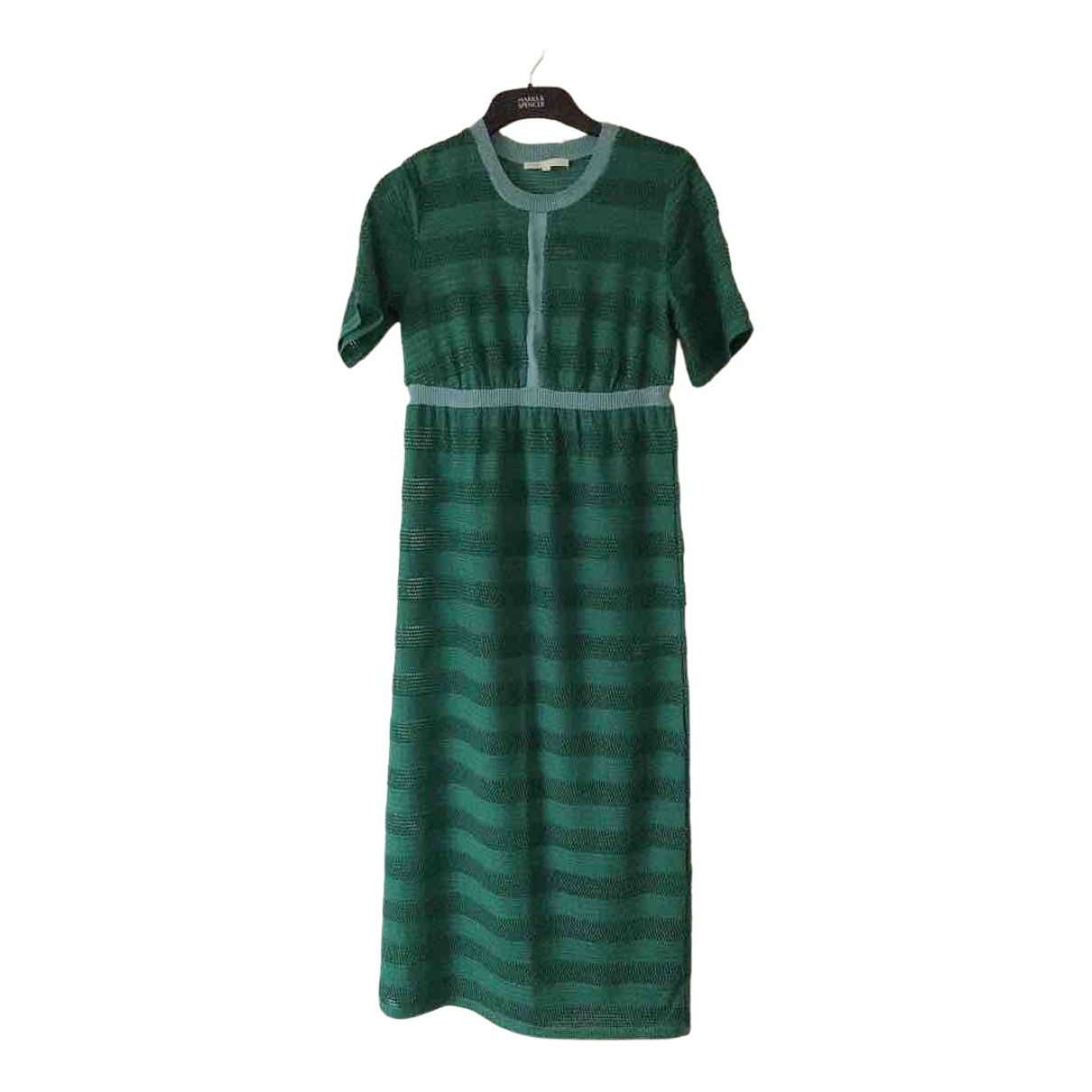 Maje Spring Summer 2019 Kleid in  Gruen Viskose