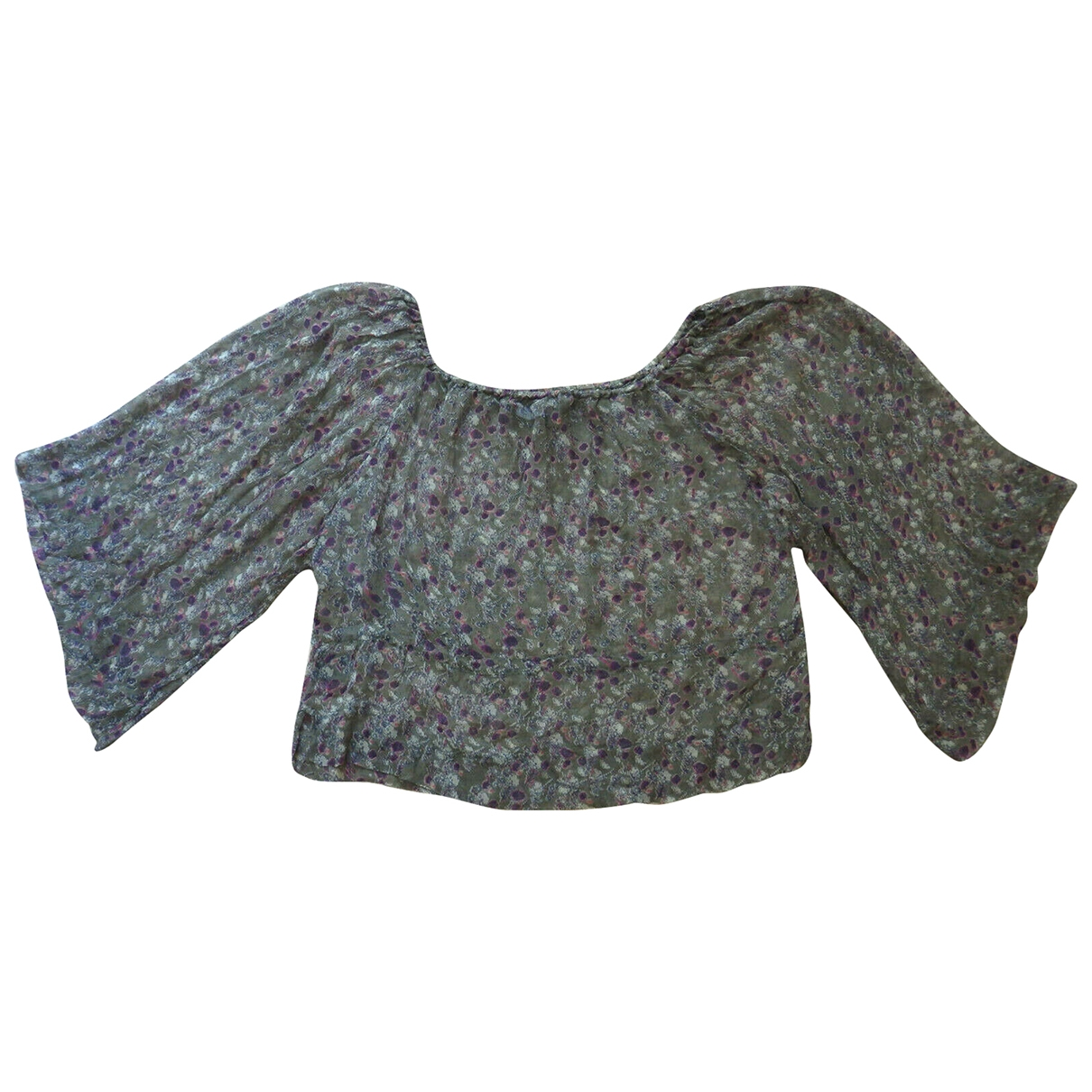 Isabel Marant Etoile \N Grey Silk  top for Women 2 0-5