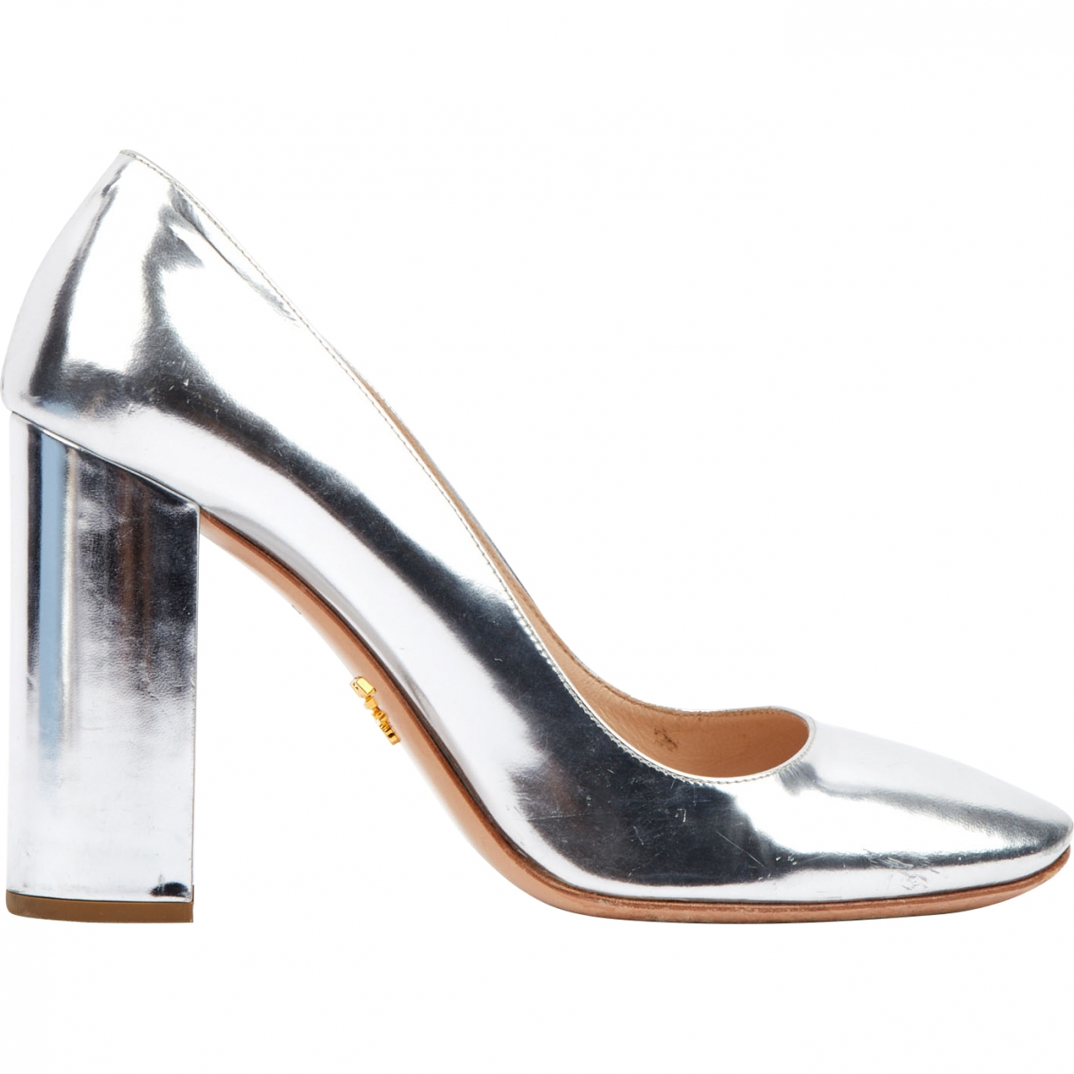 Prada \N Silver Patent leather Heels for Women 37 EU