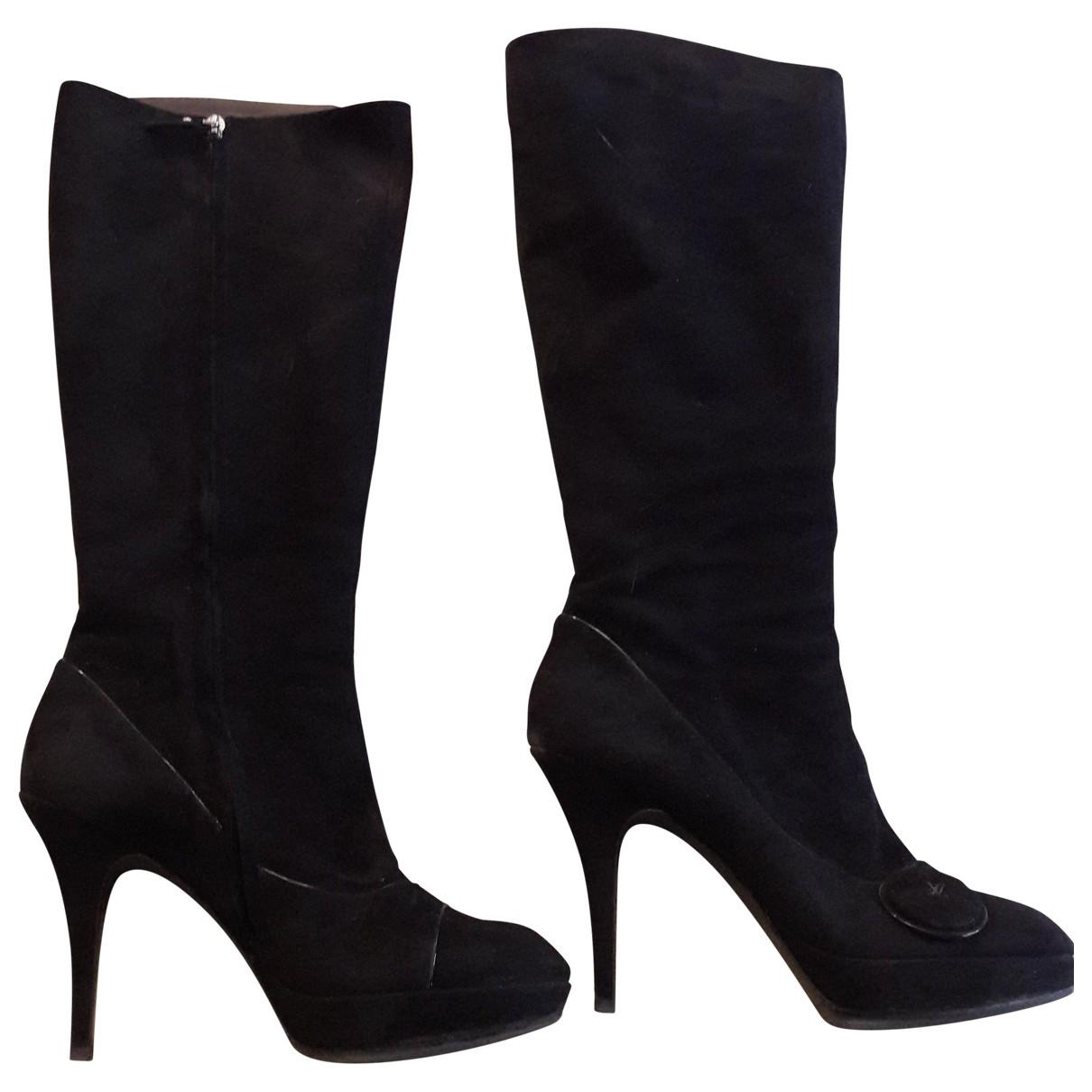 Louis Vuitton \N Black Suede Boots for Women 41 EU
