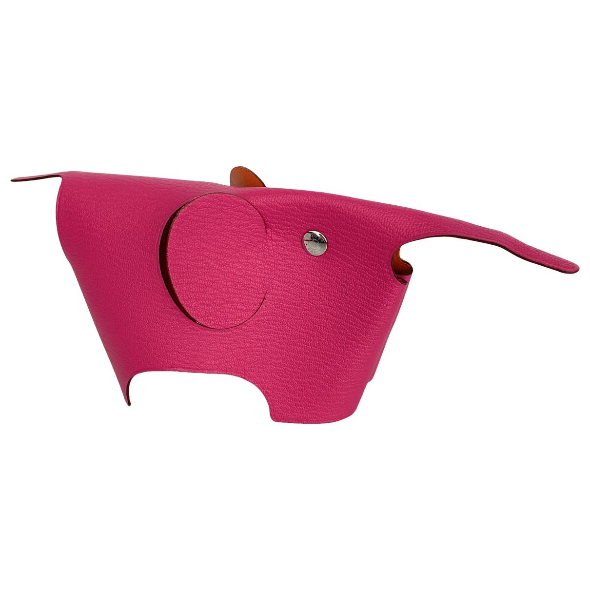 Hermes - Objets & Deco   pour lifestyle en cuir - rose