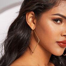 1pair Diamond Hoop Earrings