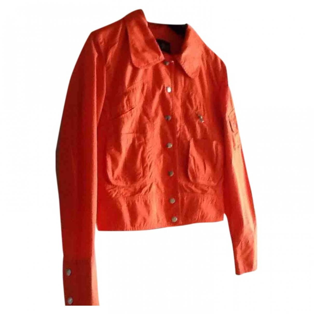 Armani Jeans \N Trench in  Orange Baumwolle