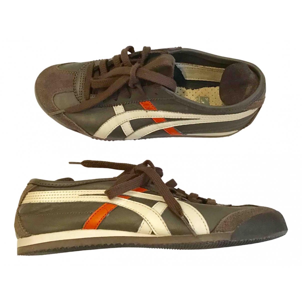 Onitsuka Tiger \N Sneakers in  Braun Leder