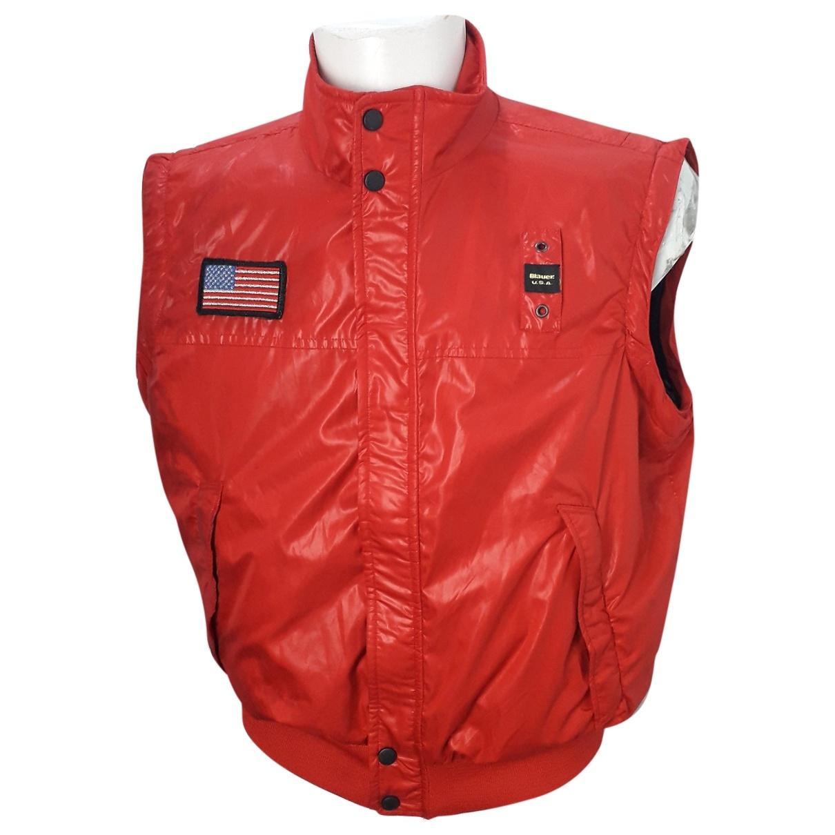 Blauer \N Pullover.Westen.Sweatshirts  in  Rot Synthetik