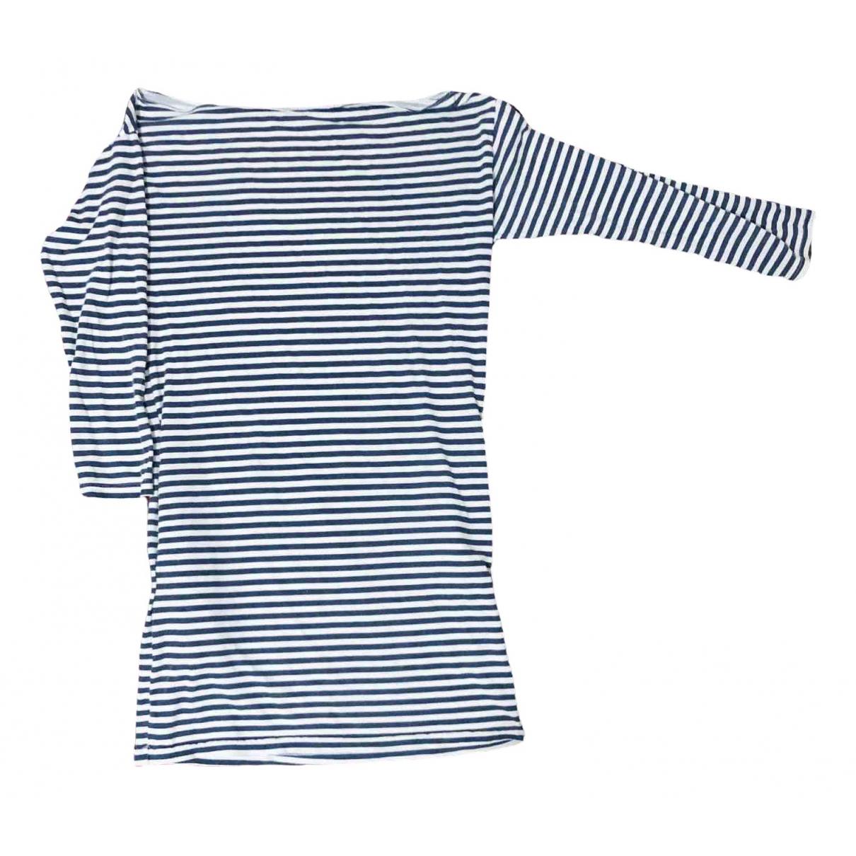 American Apparel \N Kleid in  Blau Baumwolle - Elasthan