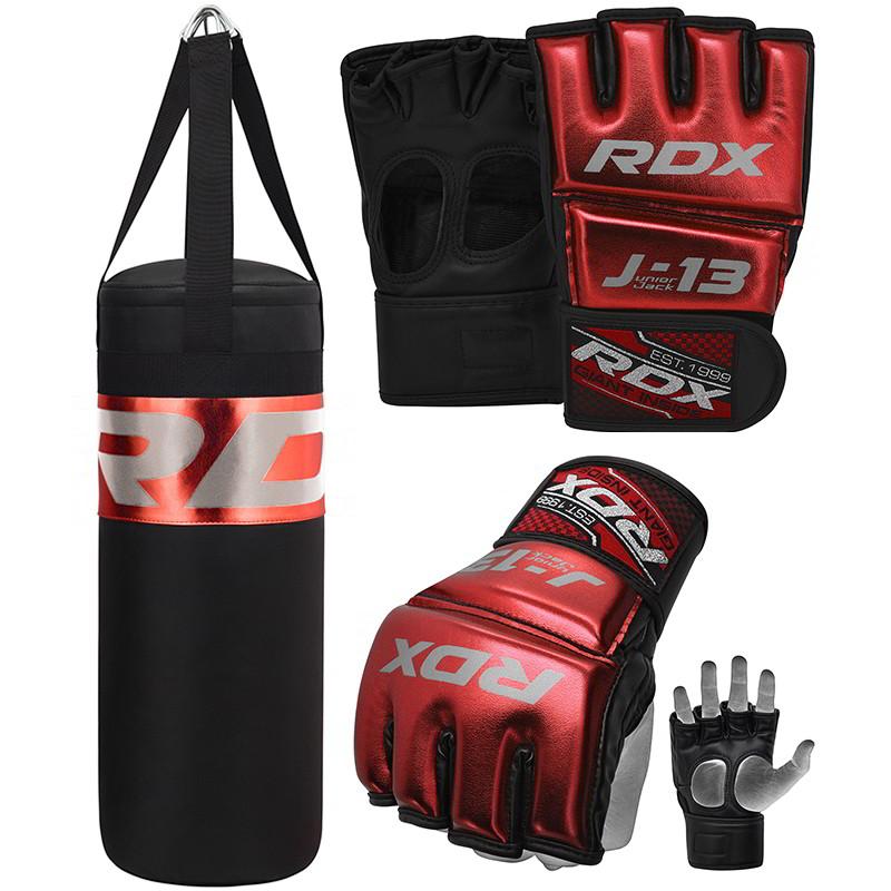 RDX J13 Ensemble de Gants de MMA et Grappling Rouges S