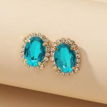 Gemstone Design Stud Earrings