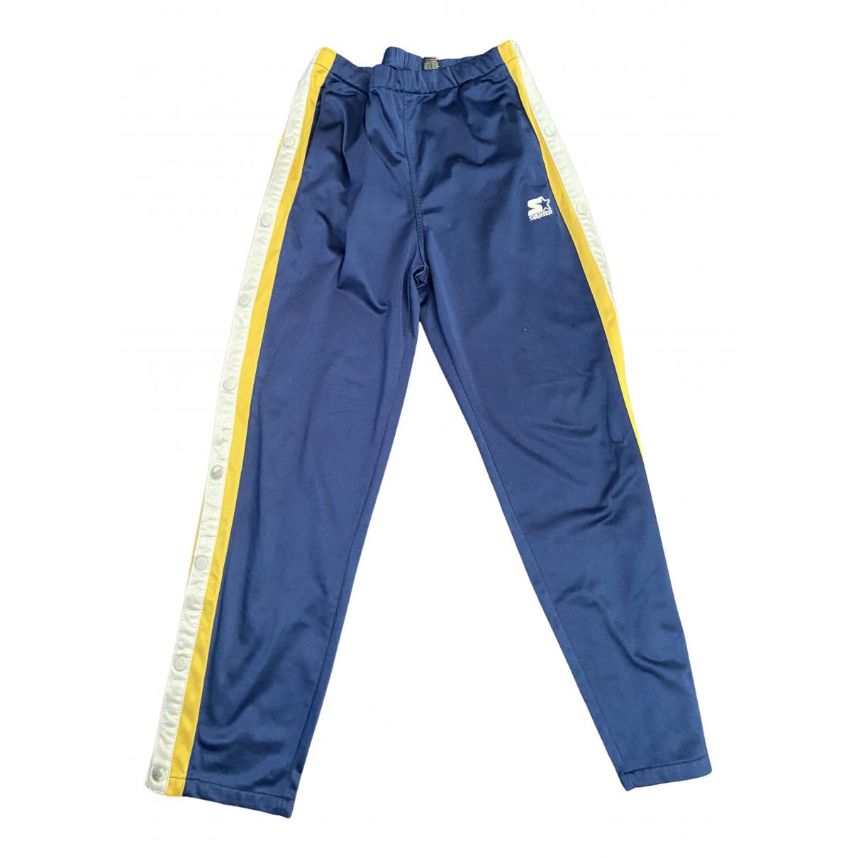 Pantalones Oversize en Algodon Azul Non Signe / Unsigned