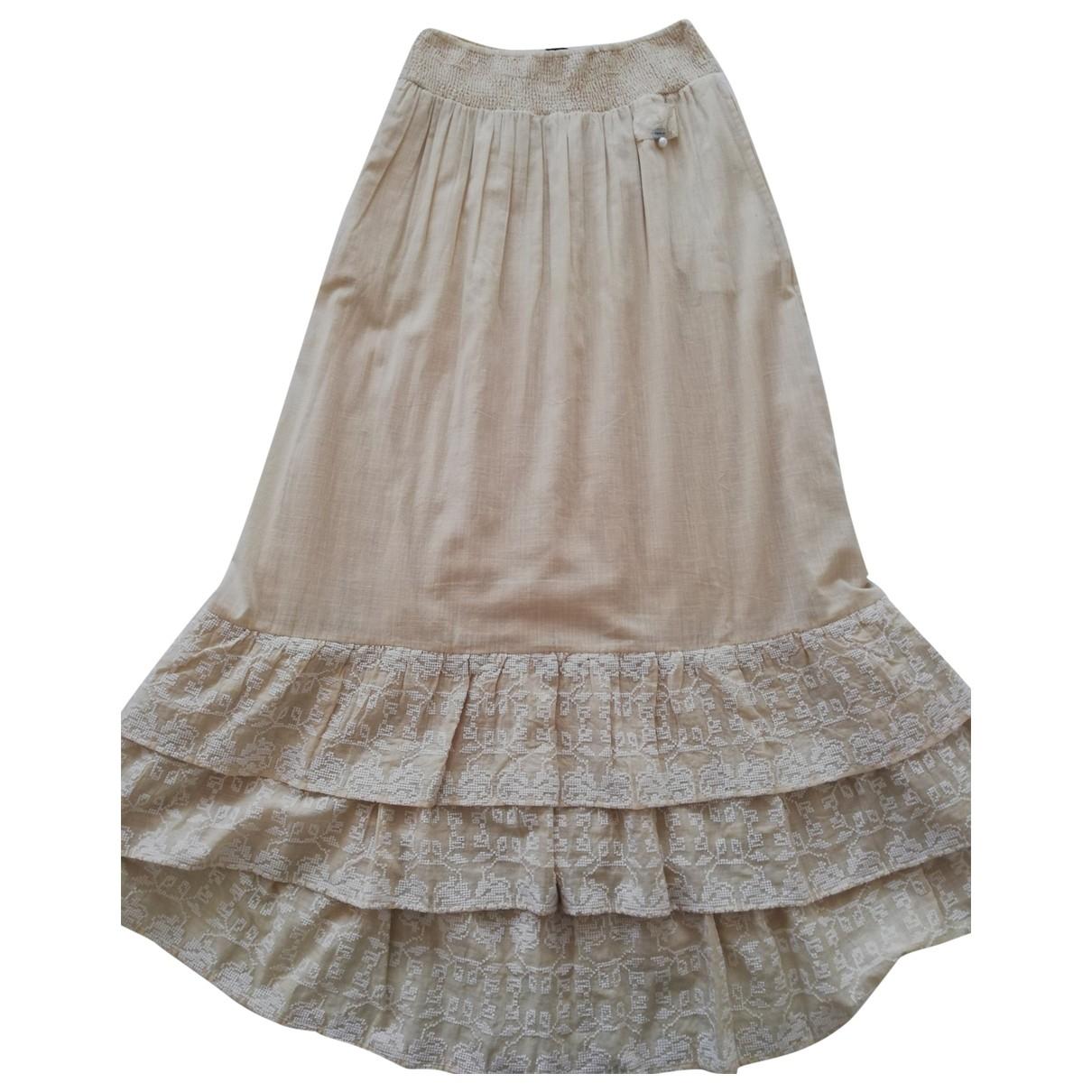 Twin Set - Jupe   pour femme en coton - beige