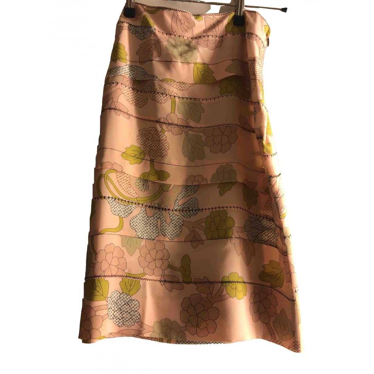 Bottega Veneta - Jupe   pour femme en soie - multicolore