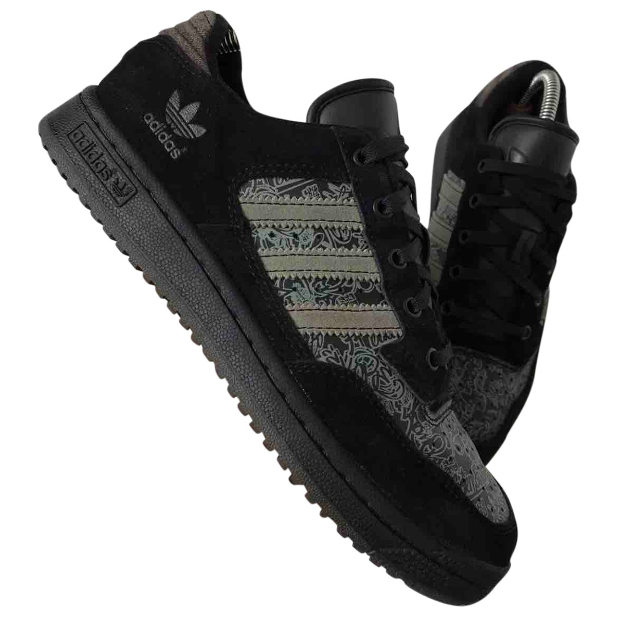 Adidas Continental 80 Sneakers in  Schwarz Leder
