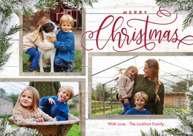 Christmas Photo Cards 5x7 Cards, Premium Cardstock 120lb, Card & Stationery -Christmas Evergreen Snapshots by Tumbalina