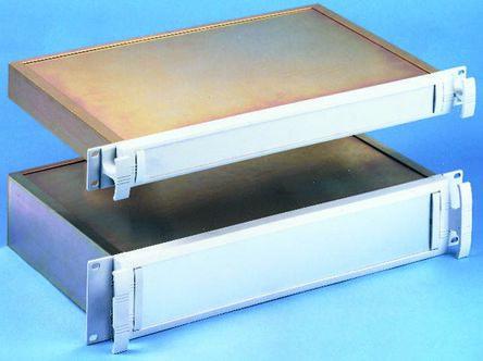 METCASE , 1U Rack Mount Case METTEC, 44 x 482.6 x 267.5mm, Grey