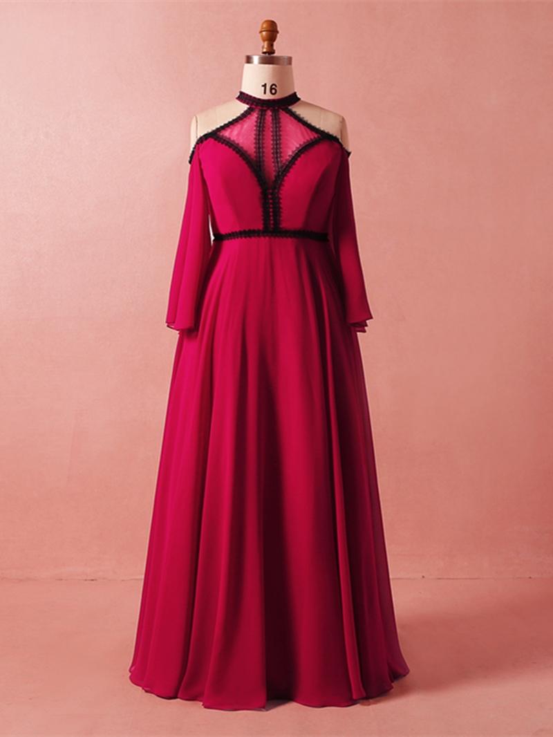 Ericdress Halter Plus Size Evening Dress