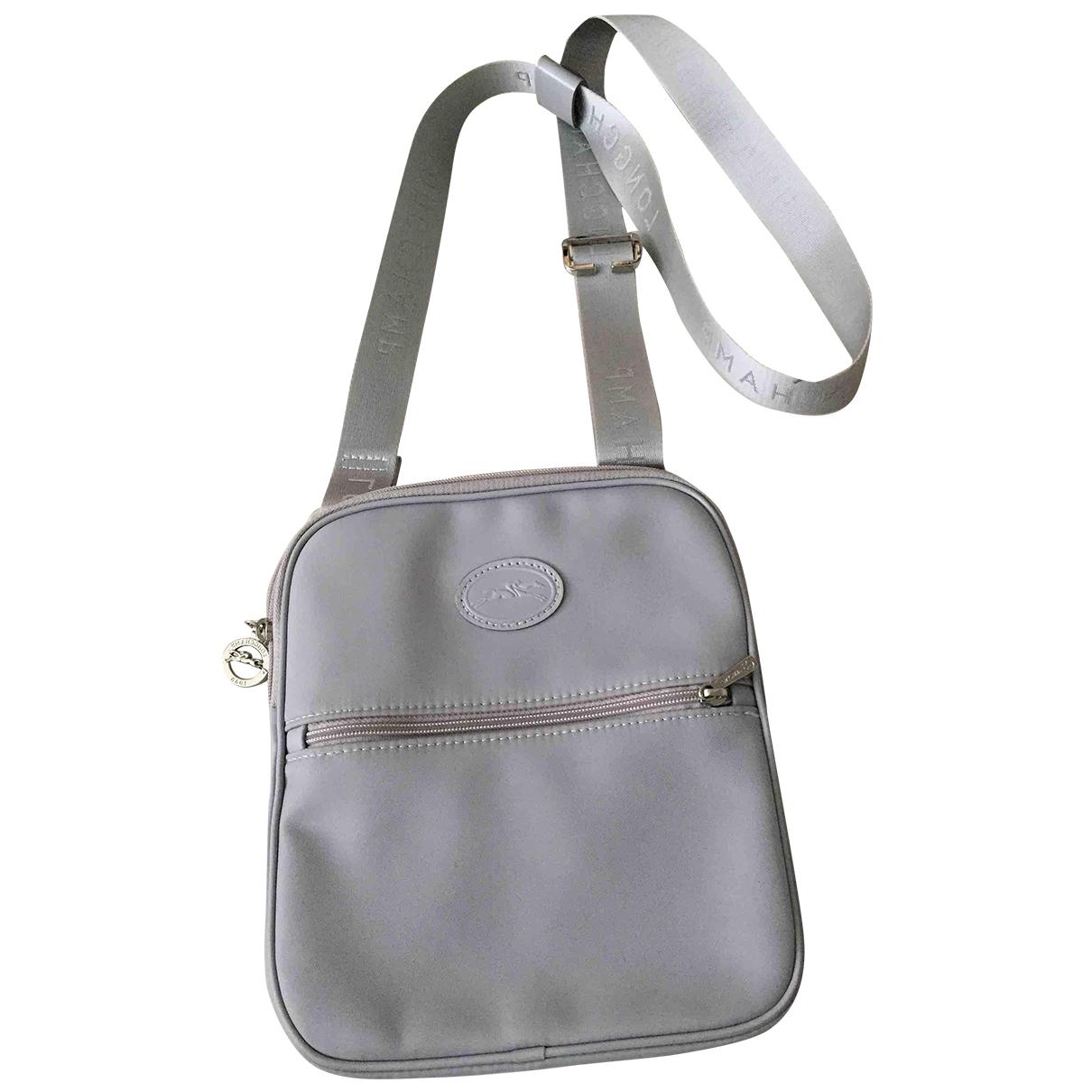 Longchamp - Sac a main   pour femme - gris