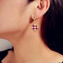 Braided Geometric Drop Earrings