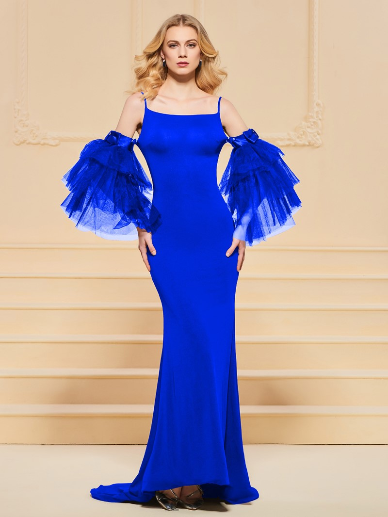 Ericdress 3/4 Bell Sleeve Straps Mermaid Evening Dress