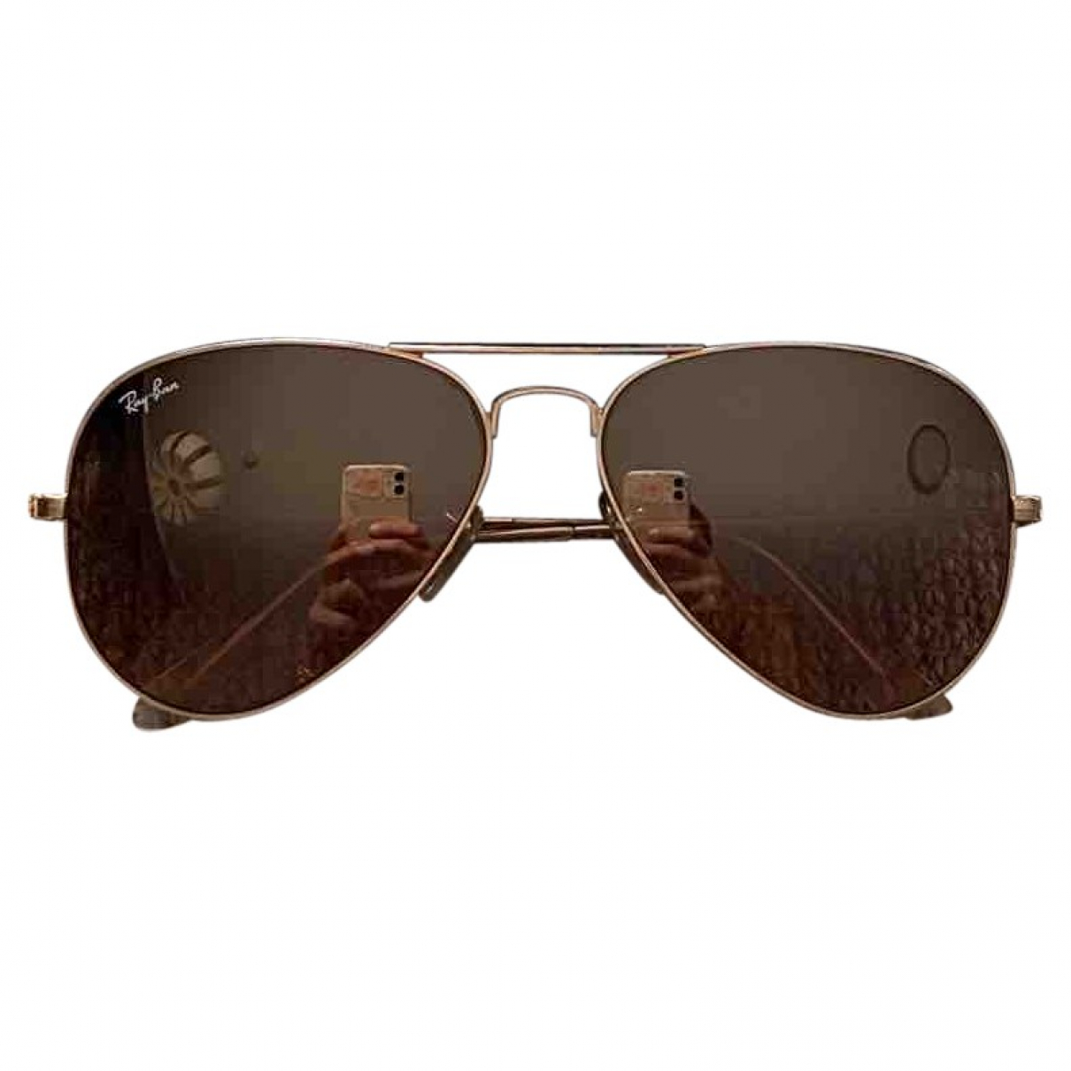 Ray-ban Aviator Pink Metal Sunglasses for Women \N