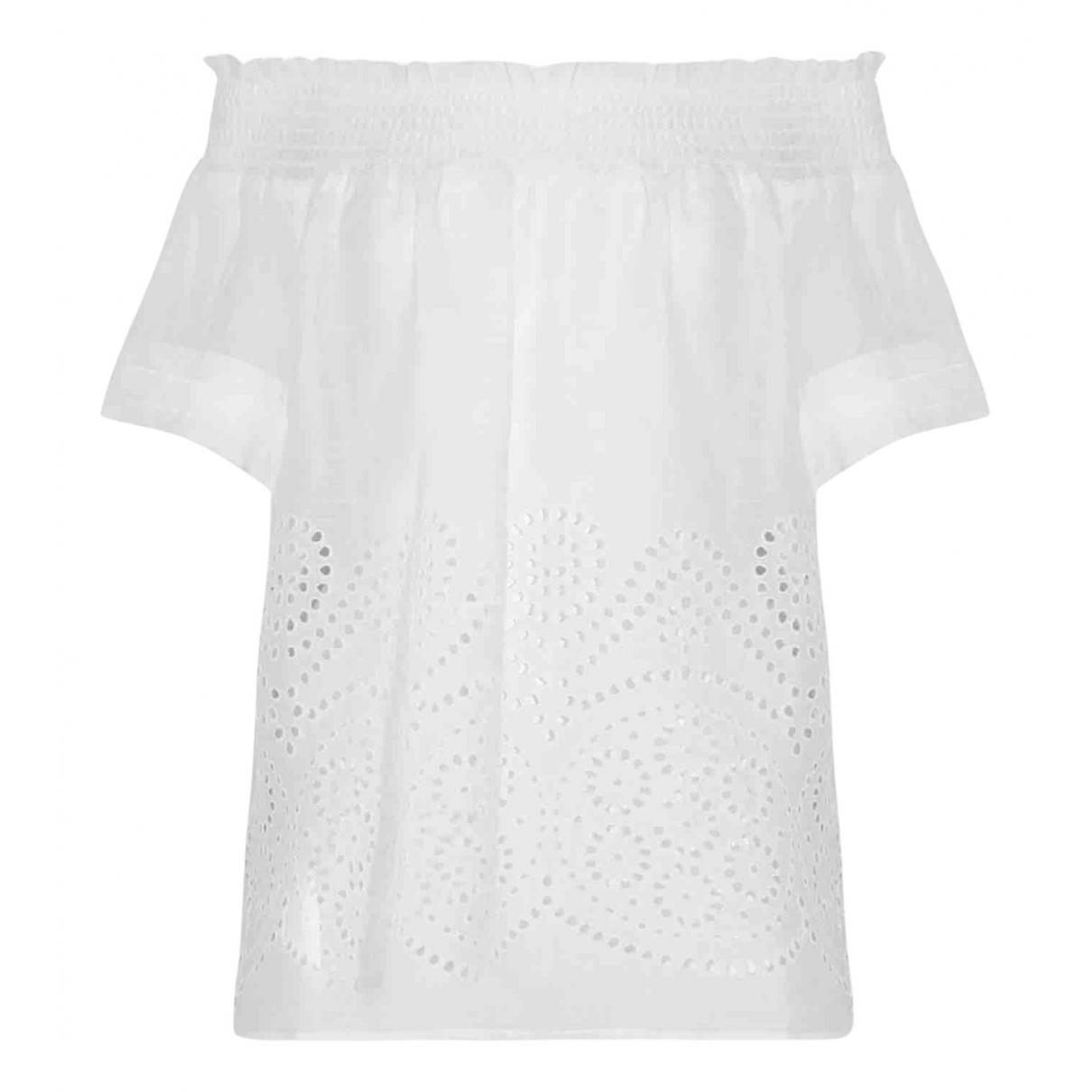 - Top   pour femme en lin - blanc