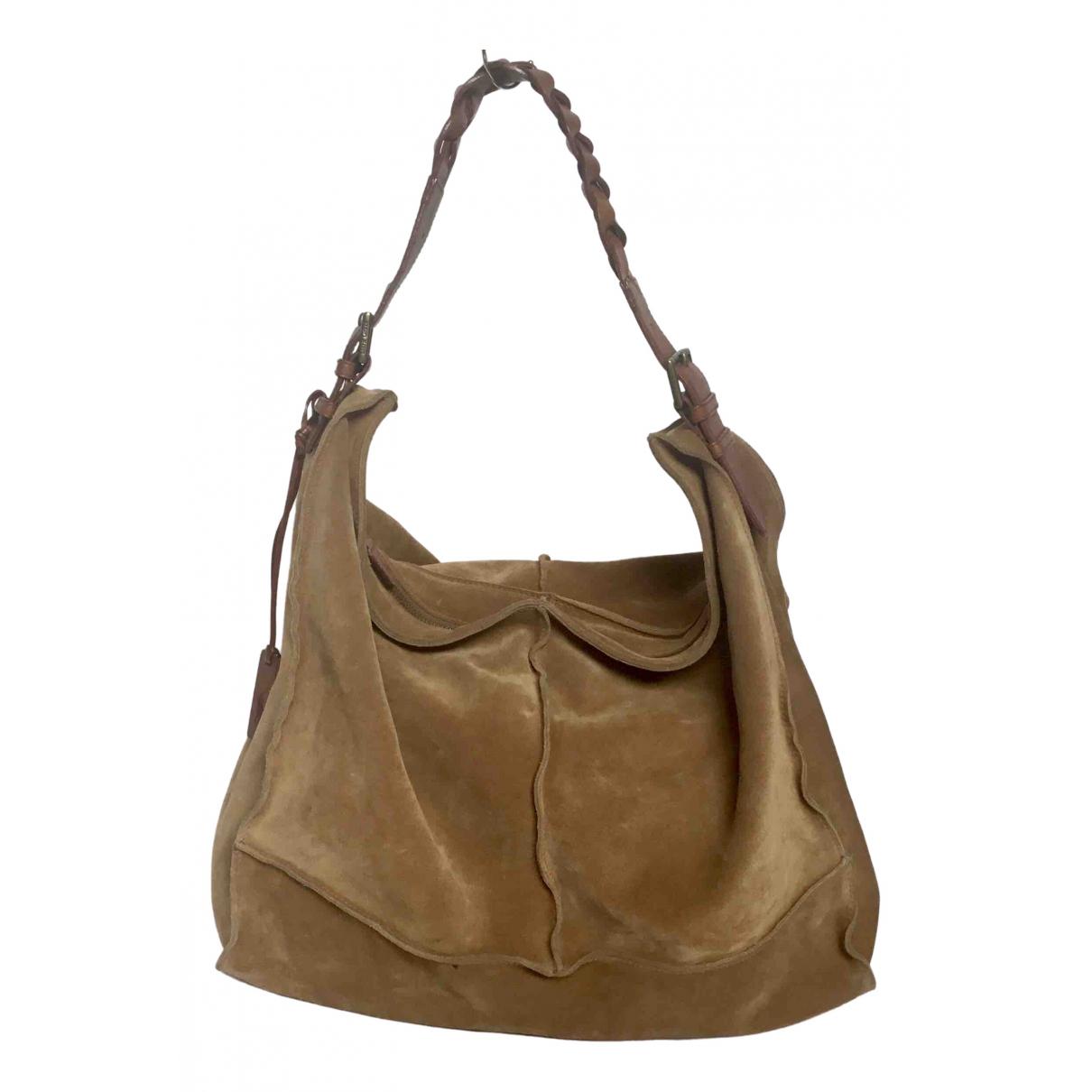 Ralph Lauren \N Handtasche in  Braun Veloursleder