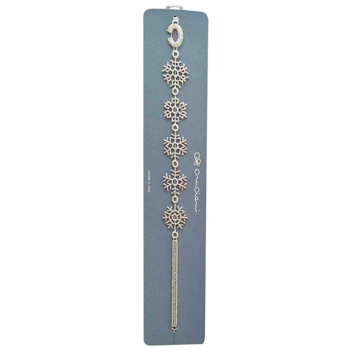 Cruciani - Bracelet   pour femme en toile - argente
