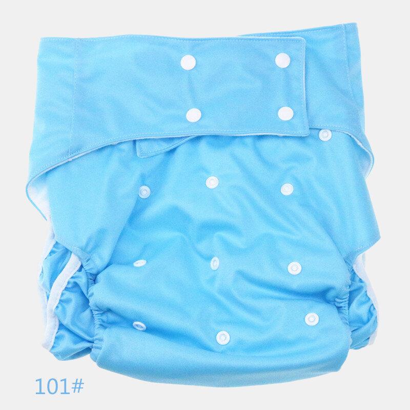 9 Colors Waterproof Adult Diaper Pants Side Leak Care Pants Soft Comfortable Adult Cloth Diapers
