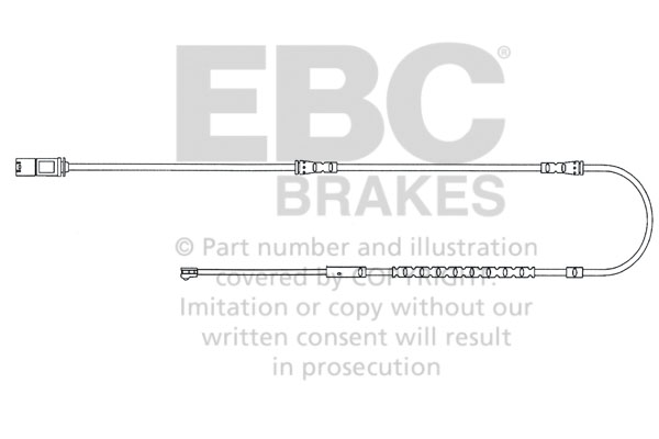 EBC Brakes EFA128 Wear Leads Front Disc Brake Pad Wear Sensor FMSI D1504 BMW Front