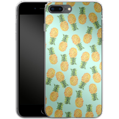 Apple iPhone 8 Plus Silikon Handyhuelle - Pineapple von Amy Sia