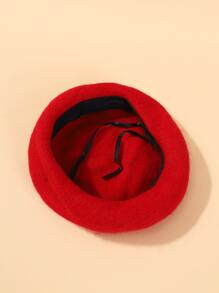 Girls Solid Beret