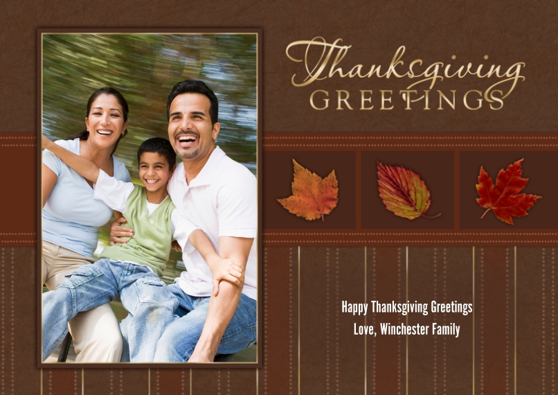 Thanksgiving Photo Cards Flat Glossy Photo Paper Cards with Envelopes, 5x7, Card & Stationery -Thanksgiving Greetings