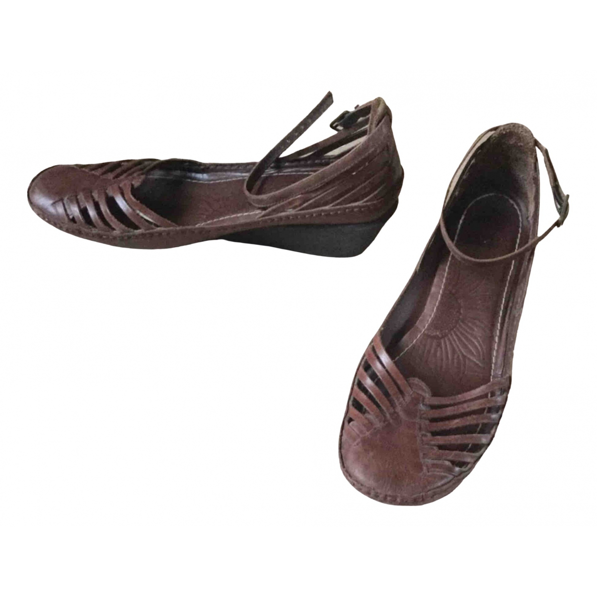 Clarks \N Brown Leather Sandals for Women 39 EU