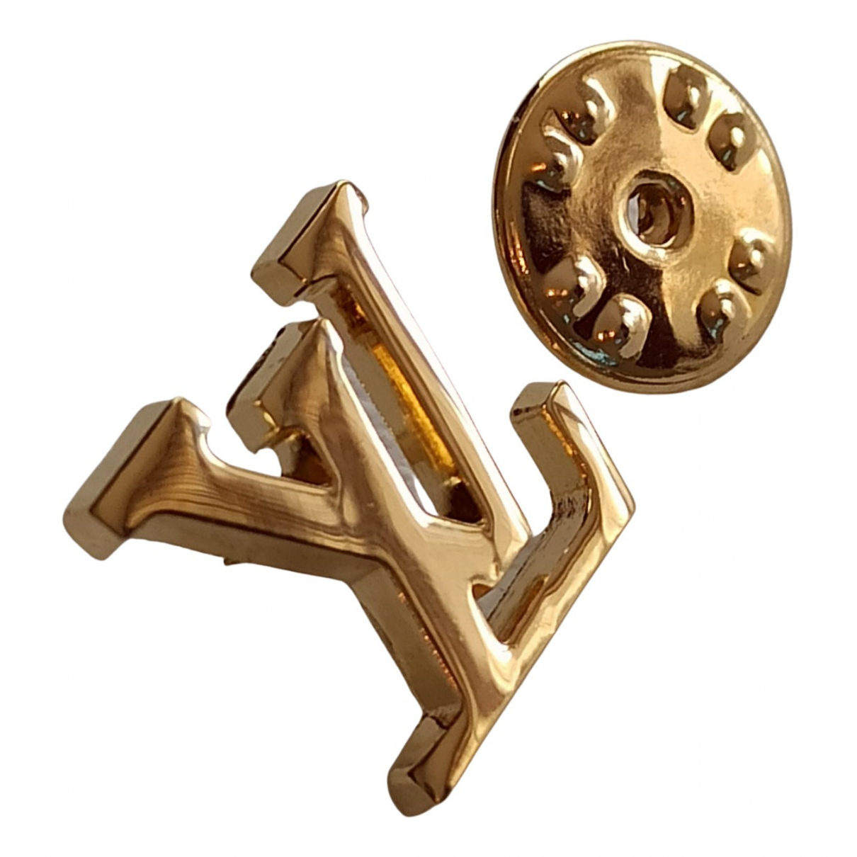 Broche en Metal Dorado Louis Vuitton