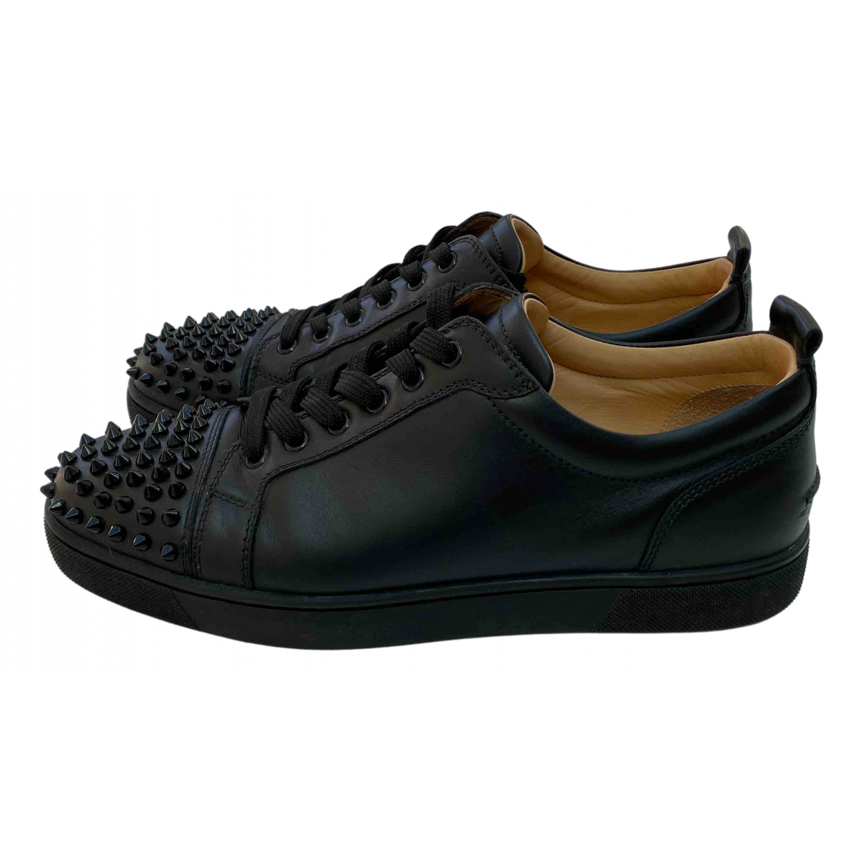 Christian Louboutin - Baskets Louis junior spike pour homme en cuir - noir