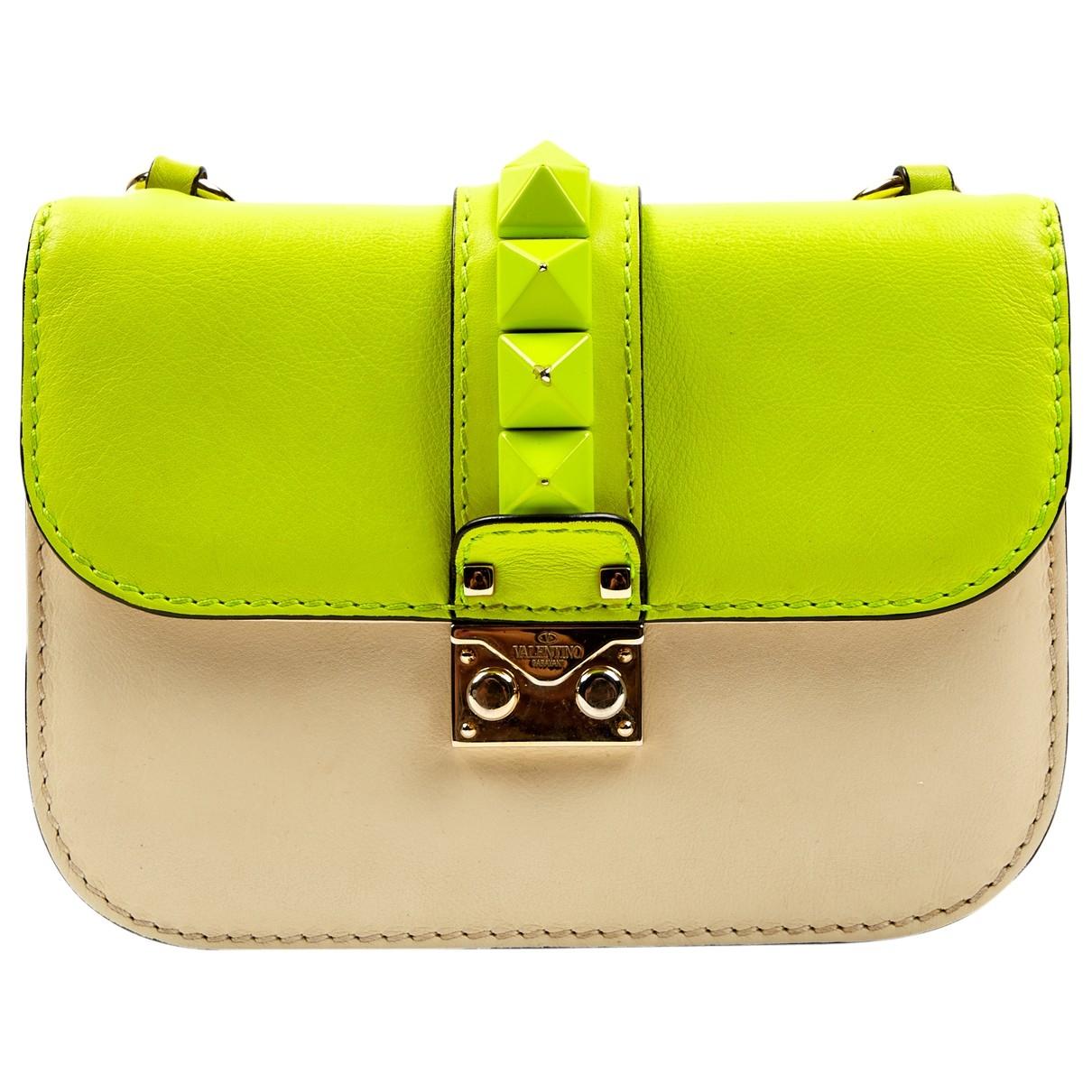 Valentino Garavani Glam Lock Yellow Leather handbag for Women \N