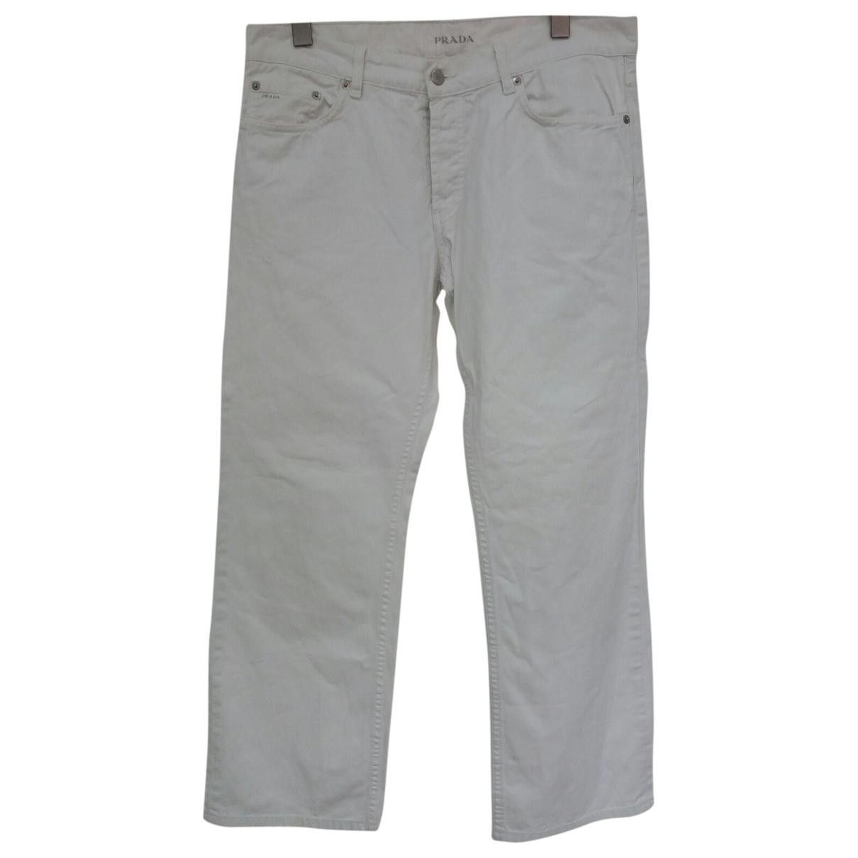 Prada \N White Cotton Jeans for Men 34 US