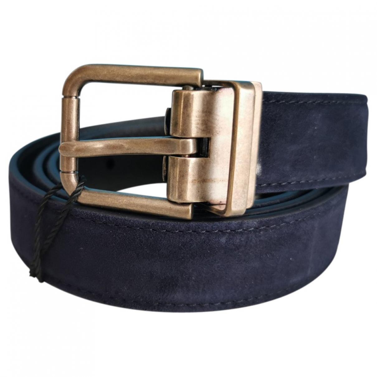 Dolce & Gabbana \N Guertel in  Marine Veloursleder