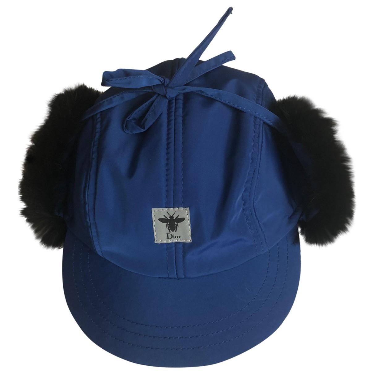 Baby Dior \N Hut, Muetzen, Handschuhe in  Blau Polyester