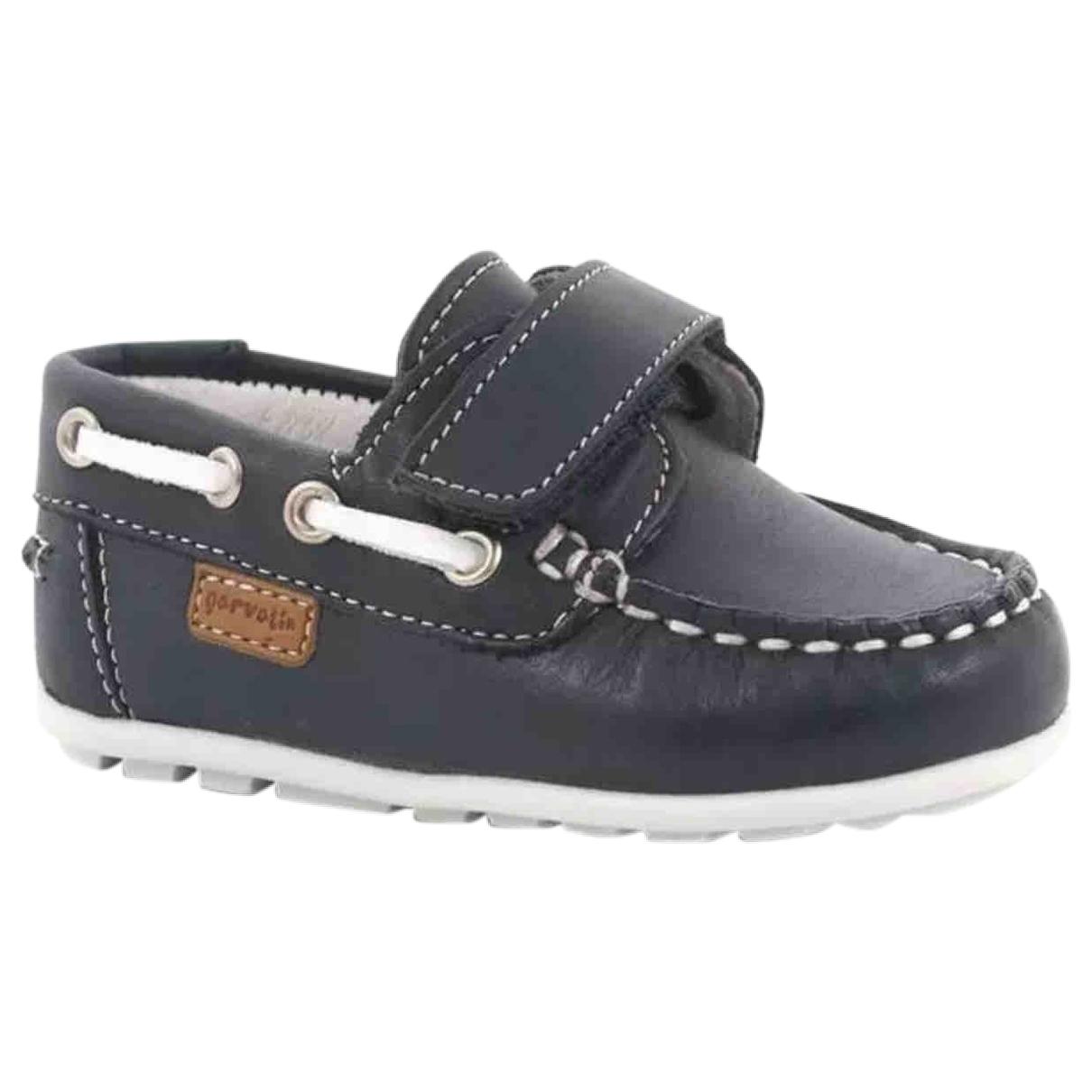 Galvan London \N Navy Leather Flats for Kids 20 EU
