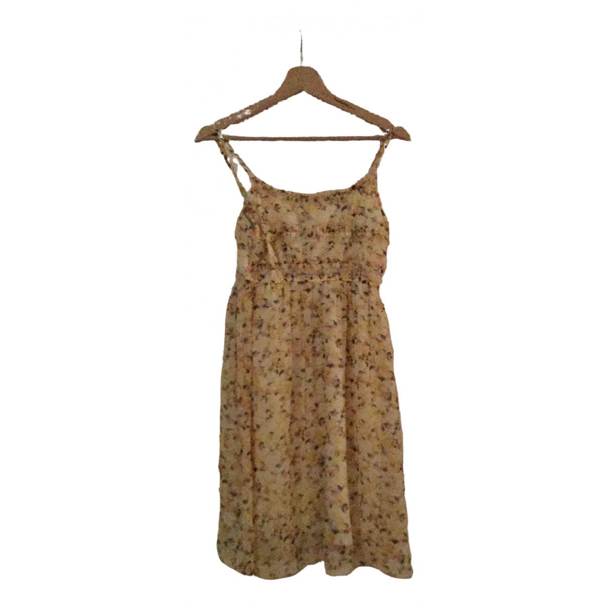 Non Signe / Unsigned Hippie Chic Kleid in  Gelb Polyester