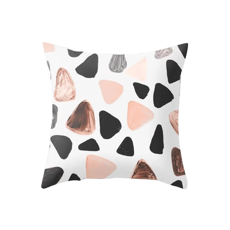 LW Lovely Trendy Print Multicolor Decorative Pillow Case