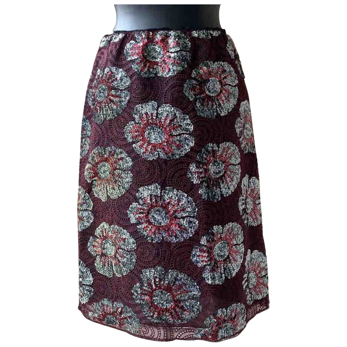 Marc Jacobs - Jupe   pour femme en soie - bordeaux