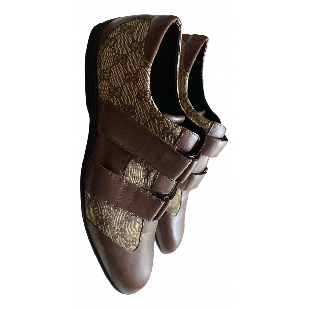 Gucci N Brown Cloth Trainers for Men 46 EU