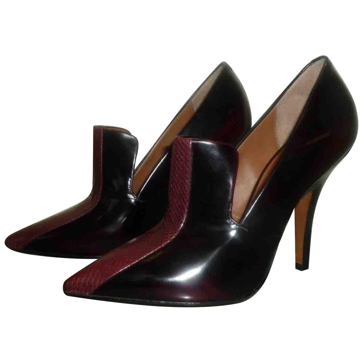 Celine - Escarpins   pour femme en cuir verni - noir
