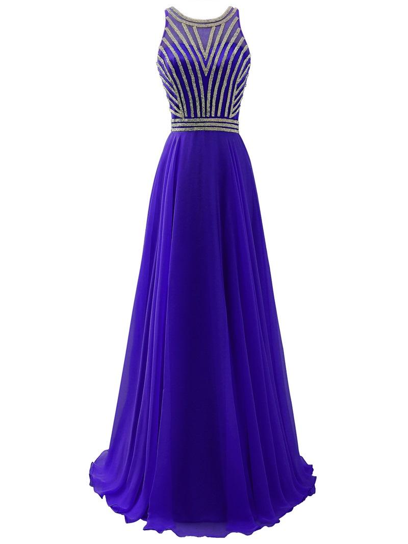 Ericdress Scoop A-Line Sleeveless Prom Dress