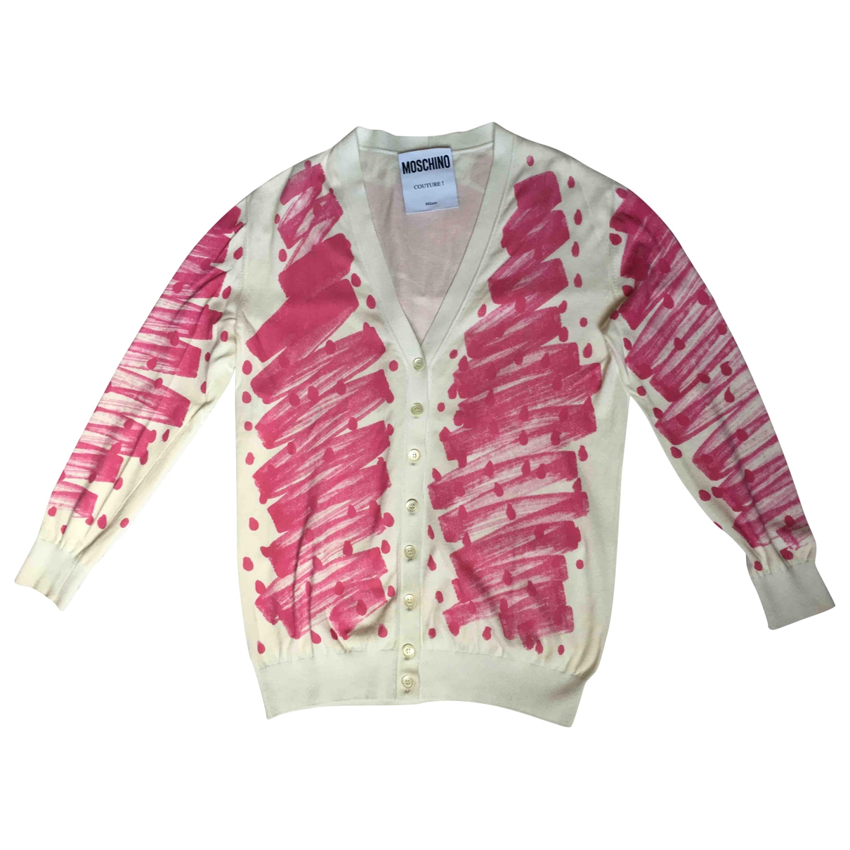 Moschino - Pull   pour femme en coton - rose